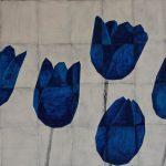 frits stiemer, tulpen, kubisme, blauw, wit, kunst, art