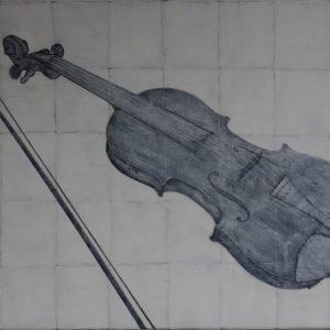 frits stiemer, viool, kubisme, zwart, wit, kunst, art, anders, muziek,