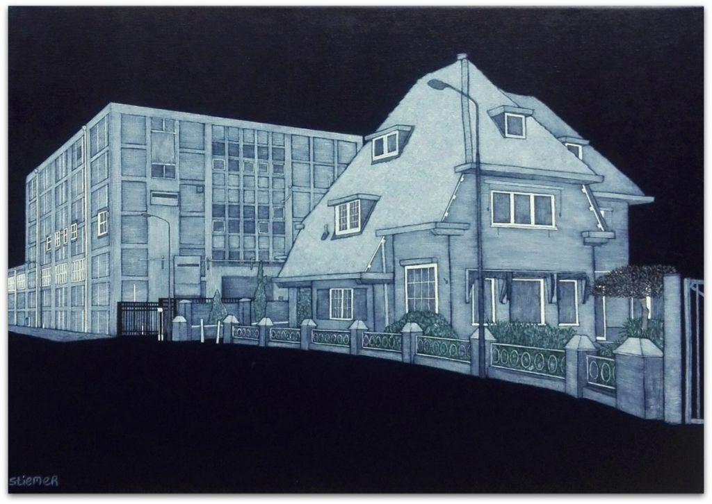 Frits Stiemer, Dutch painter, Directeurswoning, Veenendaal, Nieuweweg, fabriek en kunst