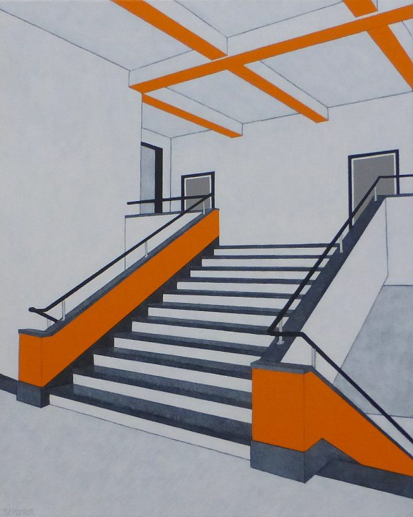 frits stiemer, kunstroute, veenendaal, expositie, trappen, bauhaus, interior design, kunst in huis, paintings, acryl, linnen, dutch painter